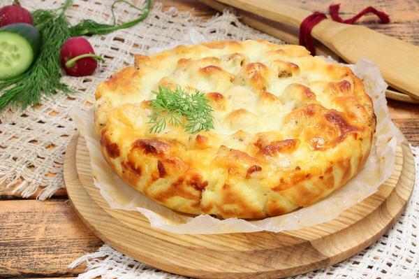 Диетический пирог с курицей и филе