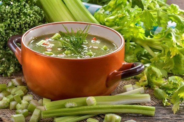 Диетический суп для похудения с сельдереем