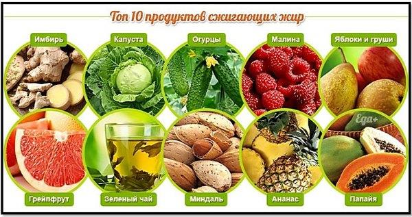 Продукты, способствующие сжиганию жиров