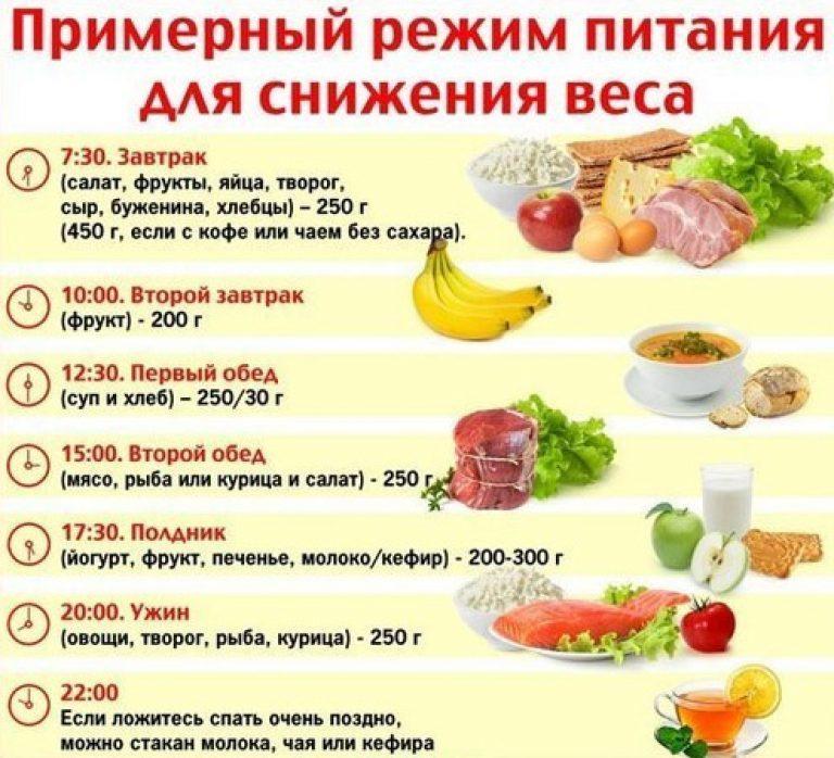Примерный режим питания